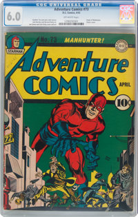 Adventure Comics #73 (DC, 1942) CGC FN 6.0 Off-white pages
