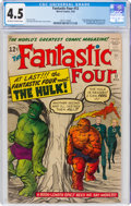 Silver Age (1956-1969):Superhero, Fantastic Four #12 (Marvel, 1963) CGC VG+ 4.5 Off-white to white pages....