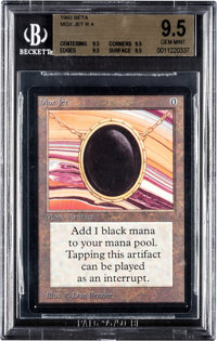 Magic: The Gathering Beta Edition Mox Jet BGS 9.5 (Wizards of the Coast, 1993)