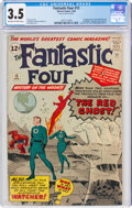Silver Age (1956-1969):Superhero, Fantastic Four #13 (Marvel, 1963) CGC VG- 3.5 Off-white to white pages....
