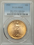 1925 $20 MS65 PCGS. Ex: Rive d'Or Collection. A collectible but undeniably attractive Gem example of this plentiful Phil...