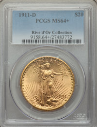 1911-D $20 MS64+ PCGS. Ex: Rive d'Or Collection. The 1911-D is plentiful in this grade, but of the pieces certified only...