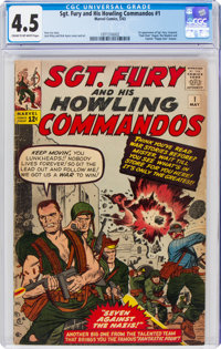 Sgt. Fury and His Howling Commandos #1 (Marvel, 1963) CGC VG+ 4.5 Cream to off-white pages