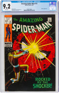Silver Age (1956-1969):Superhero, The Amazing Spider-Man #72 (Marvel, 1969) CGC NM- 9.2 White pages....
