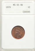 1879 1C MS65 Red and Brown ANACS. Mintage 16,231,200. ...(PCGS# 2134)