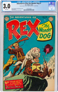 Adventures of Rex the Wonder Dog #7 (DC, 1953) CGC GD/VG 3.0 White pages