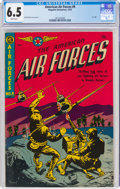 Golden Age (1938-1955):War, The American Air Forces #9 (Magazine Enterprises, 1952) CGC FN+ 6.5 White pages....
