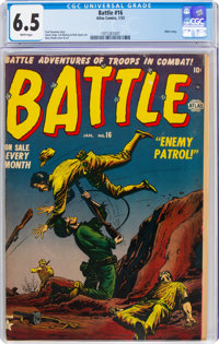 Battle #16 (Marvel, 1953) CGC FN+ 6.5 White pages