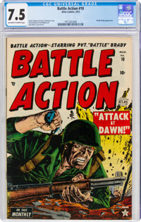 Battle Action #10 (Atlas, 1953) CGC VF- 7.5 Off-white to white pages