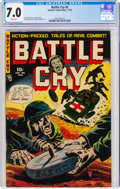 Golden Age (1938-1955):War, Battle Cry #5 (Stanmor, 1953) CGC FN/VF 7.0 White pages....