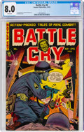 Golden Age (1938-1955):War, Battle Cry #6 (Stanmor, 1953) CGC VF 8.0 White pages....