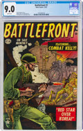 Golden Age (1938-1955):War, Battlefront #7 (Atlas, 1952) CGC VF/NM 9.0 White pages....
