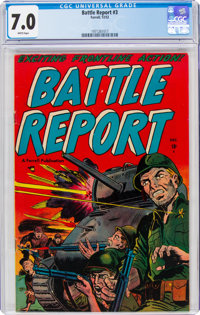 Battle Report #3 (Farrell, 1952) CGC FN/VF 7.0 White pages