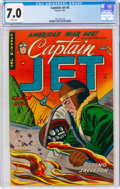 Golden Age (1938-1955):War, Captain Jet #5 (Farrell, 1953) CGC FN/VF 7.0 White pages....