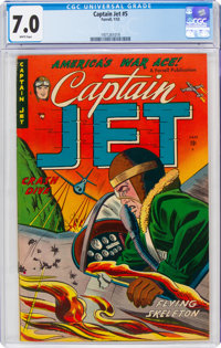 Captain Jet #5 (Farrell, 1953) CGC FN/VF 7.0 White pages