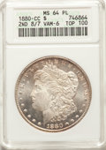 1880-CC $1 2ND 8 Over High 7 VAM-6 TOP-100 MS64 Prooflike ANACS....(PCGS# 7103)