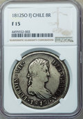 Chile: Ferdinand VII 8 Reales 1812 So-FJ F15 NGC