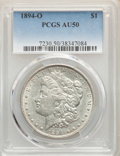 Morgan Dollars: , 1894-O $1 AU50 PCGS. PCGS Population: (623/4109). NGC Census: (468/3434). CDN: $125 Whsle. Bid for NGC/PCGS AU50. Mintage 1...