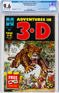 Adventures in 3-D #1 (Harvey, 1953) CGC NM+ 9.6 Off-white to white pages