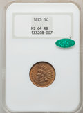 1873 1C Open 3 MS64 Red and Brown NGC. CAC. NGC Census: (123/95). PCGS Population: (239/100). CDN: $650 Whsle. Bid for N...