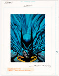 "Original Comic Art:Illustrations, Simon Bisley Master Series DS2 ""Batman"" Trading Card Illustration Original Art (Skybox, 1994)...."