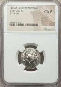Ancients: LUCANIA. Metapontum. Ca. 330-280 BC. AR stater (21mm, 5h). NGC Choice Fine