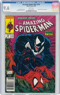 The Amazing Spider-Man #316 (Marvel, 1989) CGC NM+ 9.6 White pages
