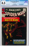 Silver Age (1956-1969):Superhero, The Amazing Spider-Man #28 UK Edition (Marvel, 1965) CGC VG+ 4.5 Off-white to white pages....