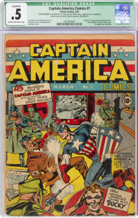 Captain America Comics #1 Cover Married - Incomplete (Timely, 1941) CGC Qualified PR 0.5 Cream to off-white pages