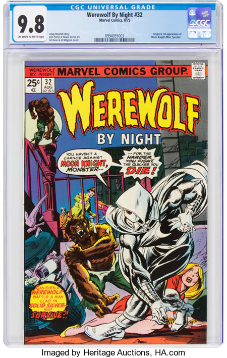 Werewolf by Night #32 (Marvel, 1975) CGC NM/MT 9.8 Off-white to white pages....