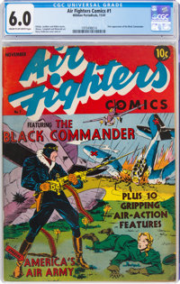 Air Fighters Comics #1 (Hillman Fall, 1941) CGC FN 6.0 Cream to off-white pages