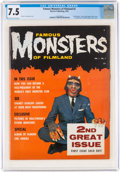 Magazines:Horror, Famous Monsters of Filmland #2 (Warren, 1958) CGC VF- 7.5 Off-white to white pages....