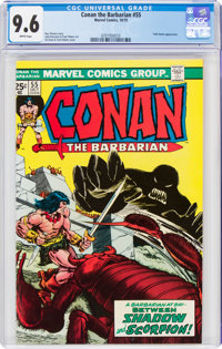 Conan the Barbarian #55 (Marvel, 1975) CGC NM+ 9.6 White pages