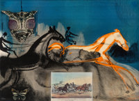 Salvador Dalí (1904-1989) American Trotting Horses No. 2, from Currier & Ives as Interpreted by Salv