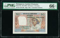World Currency, Madagascar Institut d'Emission 50 Francs = 10 Ariary ND (1961) Pick 51a PMG Gem Uncirculated 66 EPQ.. ...
