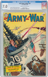 Our Army at War #25 (DC, 1954) CGC FN/VF 7.0 Cream to off-white pages