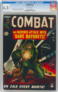 Combat #1 (Atlas, 1952) CGC FN+ 6.5 Off-white pages