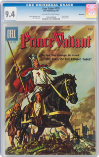 Four Color #719 Prince Valiant - Bethlehem Pedigree (Dell, 1956) CGC NM 9.4 Off-white to white pages