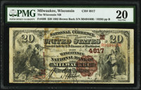 Milwaukee, WI - $20 1882 Brown Back Fr. 499 The Wisconsin National Bank Ch. # (M)4817 PMG Very Fine 20