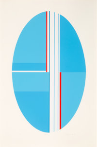 Ilya Bolotowsky (1907-1981) Basel, late 20th century Screenprint in colors on paper 35 x 23 inche