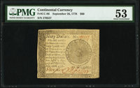 Continental Currency September 26, 1778 $60 PMG About Uncirculated 53