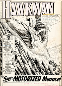 """Murphy Anderson Mystery in Space #89 Complete 12-Page Story """"The Super-Motorized Menace!"""" Original Art (DC, 19..."""