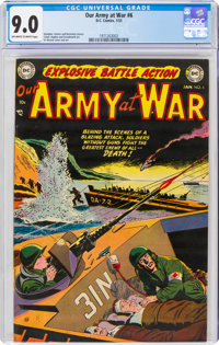Our Army at War #6 (DC, 1953) CGC VF/NM 9.0 Off-white to white pages
