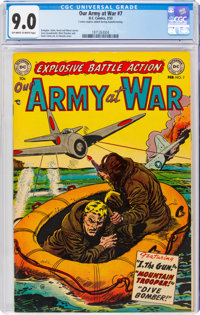 Our Army at War #7 (DC, 1953) CGC VF/NM 9.0 Off-white to white pages