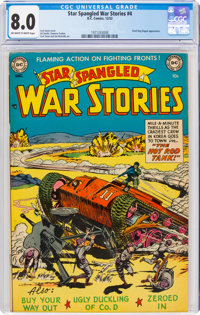 Star Spangled War Stories #4 (DC, 1952) CGC VF 8.0 Off-white to white pages
