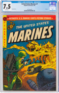 Golden Age (1938-1955):War, United States Marines #7 (Magazine Enterprises, 1952) CGC VF- 7.5 White pages....