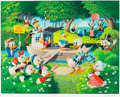 Memorabilia:Disney, Carl Barks Surprise Party at Memory Pond Signed Limited Edition Serigraph Print #AP10/50 (Disney Art Editions, und...