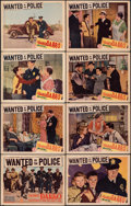 """Movie Posters:Crime, Wanted by the Police (Monogram, 1938). Fine+. Lobby Card Set of 8 (11"""" X 14""""). Crime.. ... (Total: 8 Items)"""