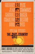 """Movie Posters:Western, The Big Country (United Artists, 1958). Folded, Fine+. One Sheet (27"""" X 41""""). Western.. ..."""