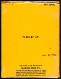 """Movie Posters:Drama, Class of '44 (Warner Bros., 1973). Very Fine-. Revised Final Script (125 Pages, 8.75"""" X 11.5""""). Drama.. ..."""
